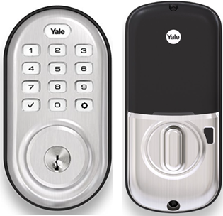 Yale Assure Lock Push Button Keypad with Z-Wave Satin Nickel